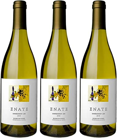 ENATE Chardonnay - 234, Añada 2019, Vino Blanco, D.O. Somontano - Pack de 3 Botellas - 75cl