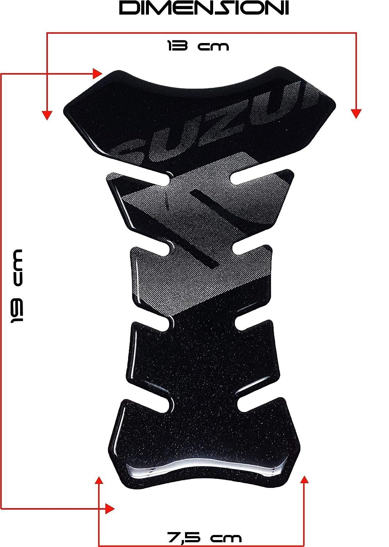 Nero Protezione per Serbatoio Moto Suzuki 3D