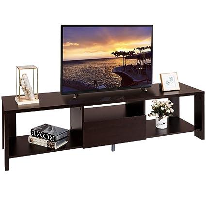 Amazon Com Tv Stand Media Console Cabinet Entertainment Center W