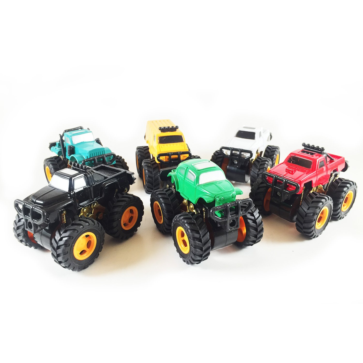 Amazon Com Boley Monster Pullback Trucks Mini Pack Friction