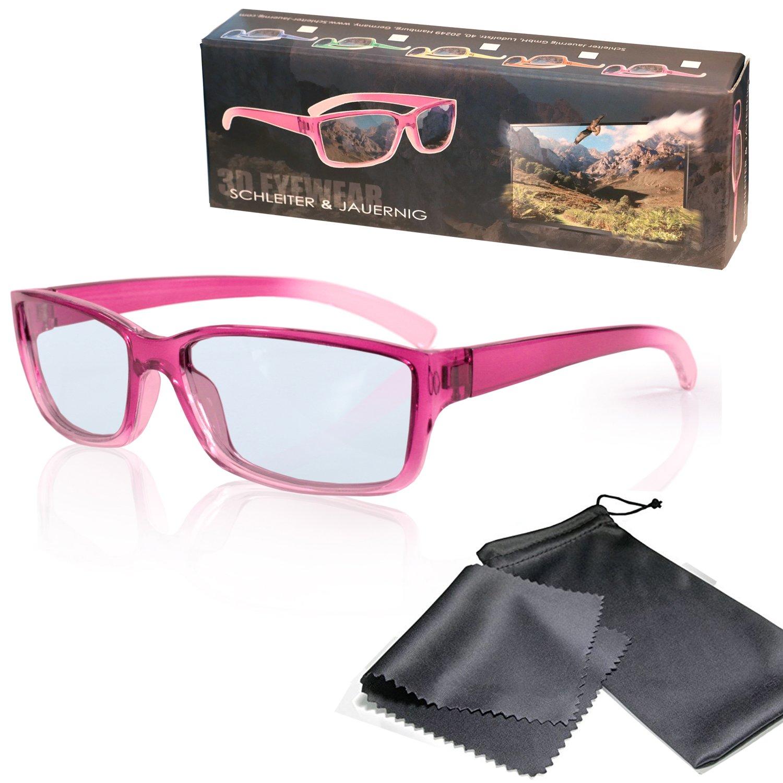90eeca9458 Gafas 3D para niños pasivo para RealD - Rosado-transparente - Polarizadas  circular - Con
