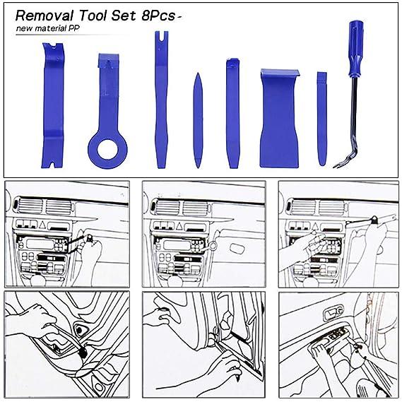 Juego de herramientas de eliminación de adornos automáticos con 8 ...