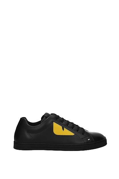 new arrivals 19750 9bd50 FENDI Sneakers Men - Leather (7E1071TTYF07OM) 5 UK Black ...