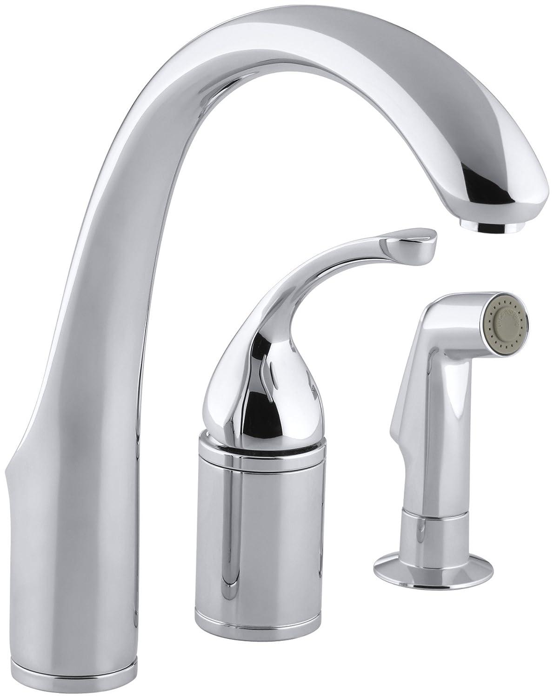 KOHLER K-10430-CP Forte Single Control Remote Valve Kitchen Sink ...