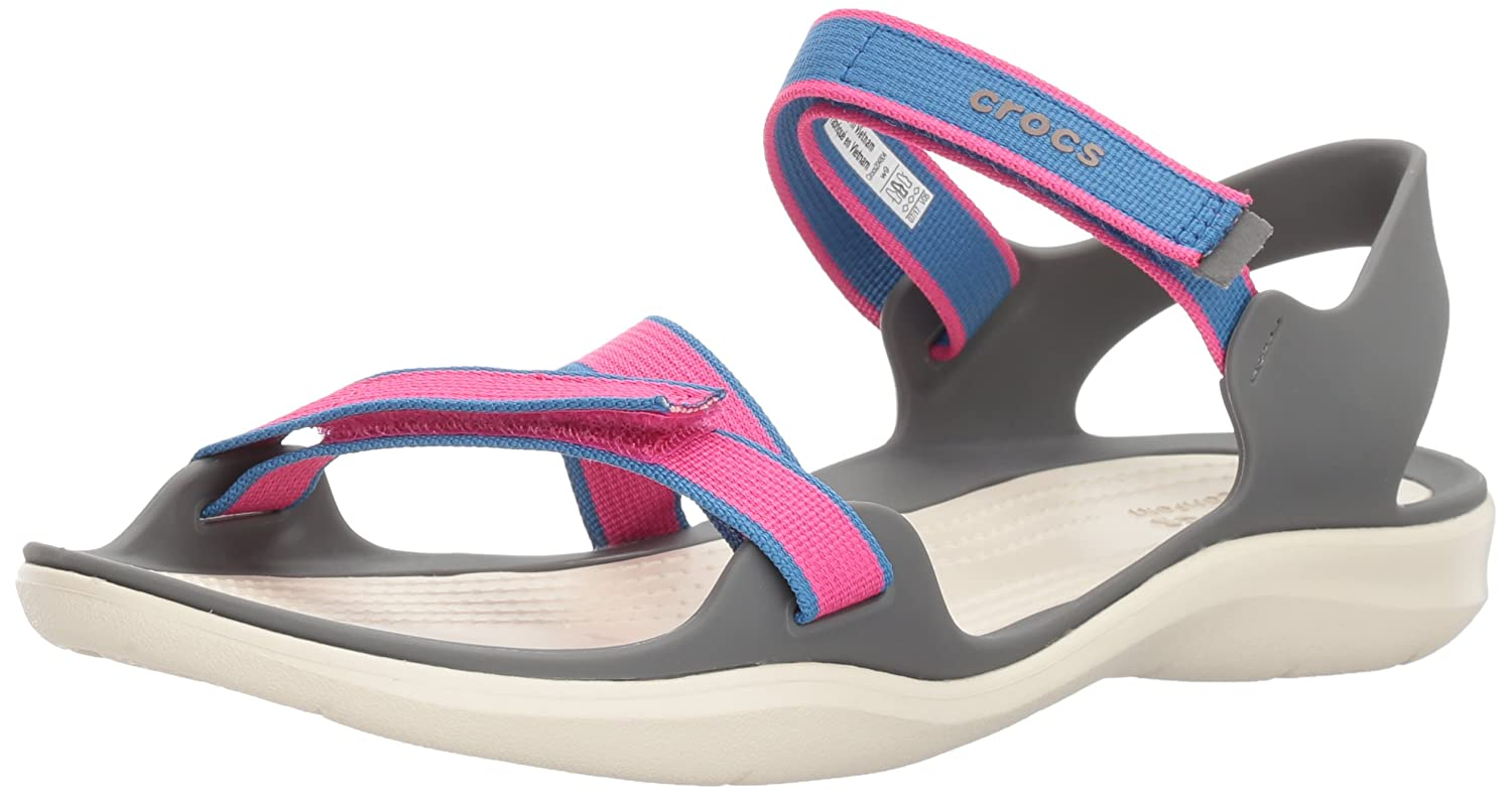 Crocs Women's Swiftwater Webbing Sandal B01NAK22BL 5 M US|Candy Pink
