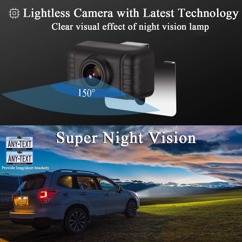 LeeKooLuu HD 720P Car Reversing Camera Kit with IP69 Waterproof Super Night Vision One Power Reversing//Front view Optional 5 Display Grid Lines Adjustable for Cars//SUVs//RVs//Pickups//Trucks//Campers