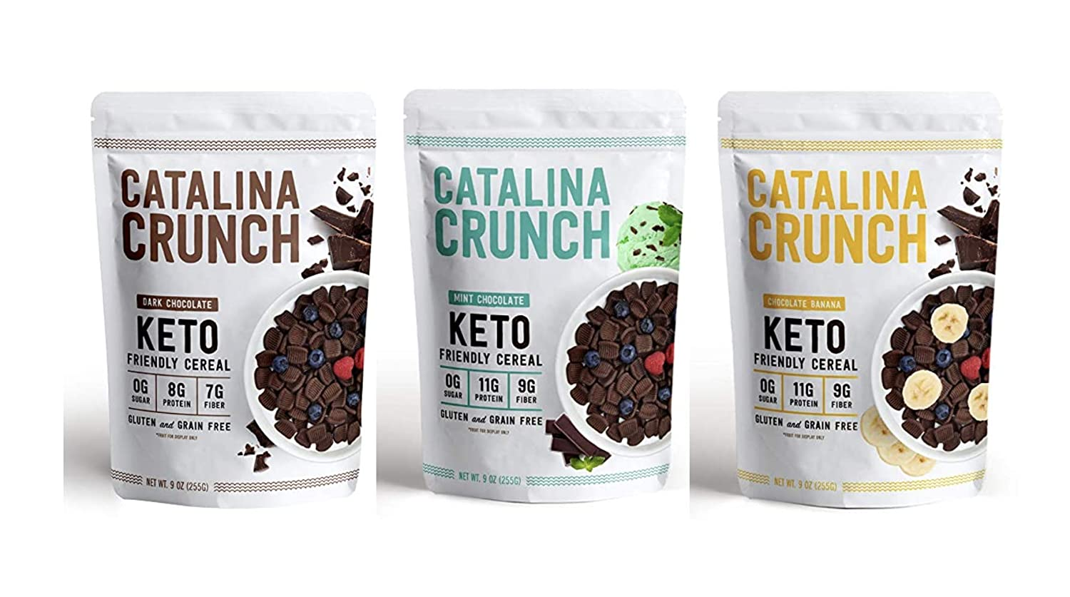 Catalina Crunch Keto Friendly Cereal, Chocolate Lovers Variety Pack, 9 Ounce (Pack of 3)