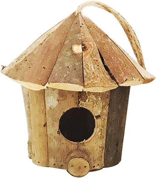 Sepikey Caja Nido de pájaros de Madera Casas de pájaros Jardín idílico Decoración Interior: Amazon.es: Hogar