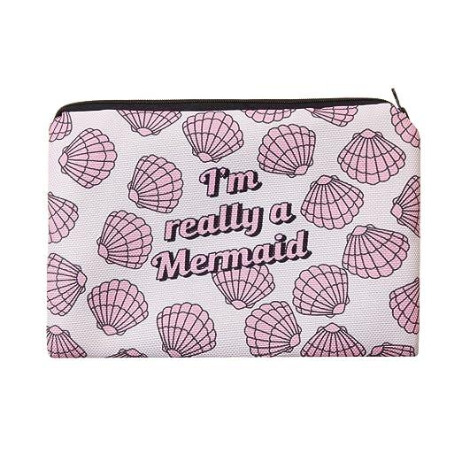Jom Tokoy Makeup Bag Cartoon Printing Cosmetic Bags Pencil Case (Mermaid) by Jom Tokoy