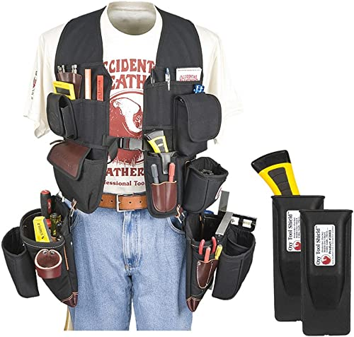 Occidental Leather 2585 Builders Vest Framer Package Bundle w 2 Pack 2003 Oxy Tool Shield 3 Pieces
