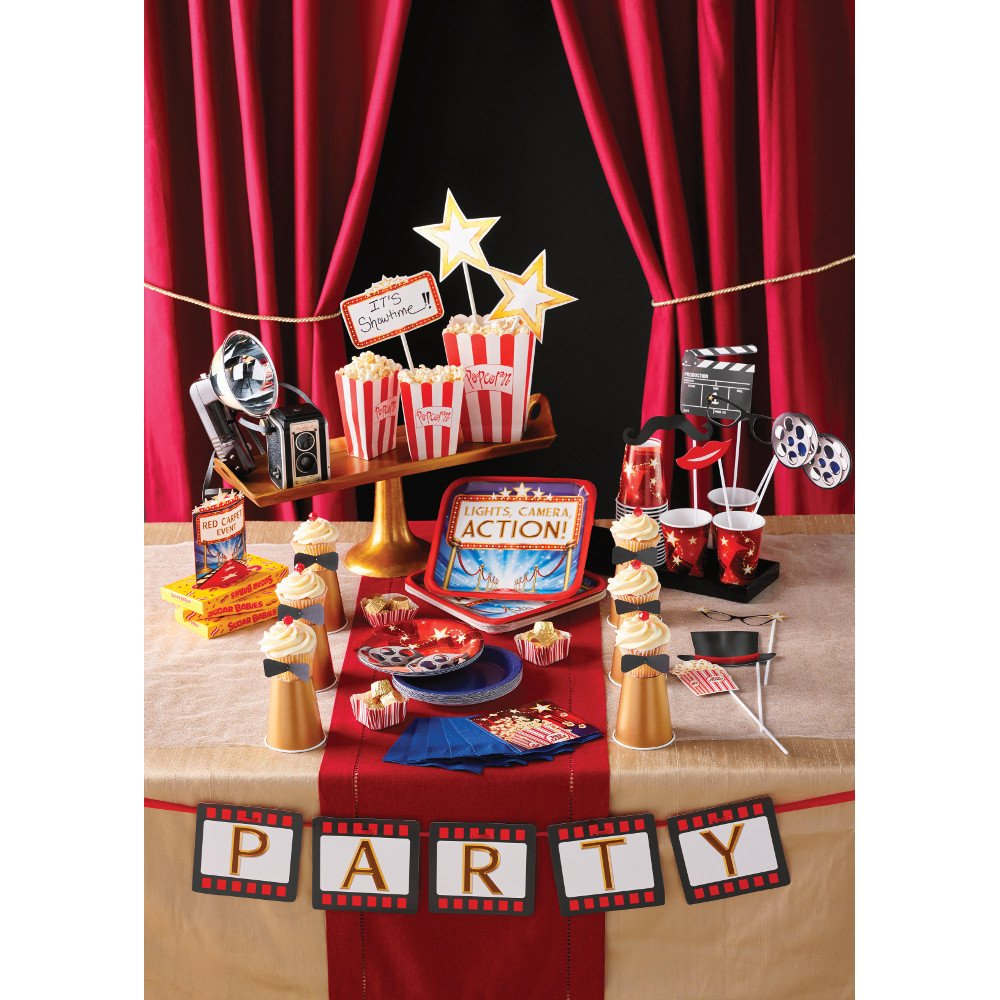 Red//Blue//White Creative Converting 48 Count Hollywood Lights Lunch Napkins