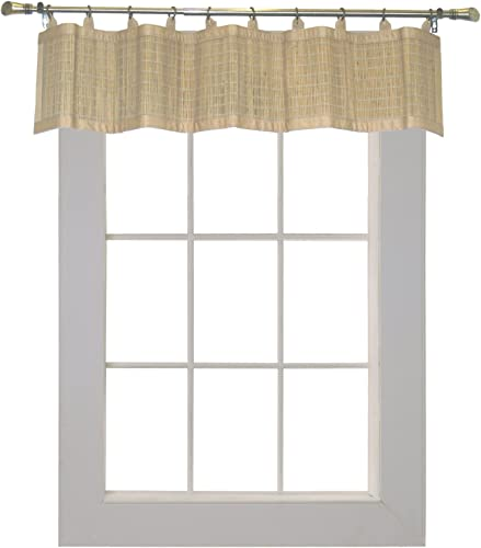 Bamboo Ring Top Curtain Inch BRP05 Window Valance, 48 L x 12 H, Driftwood