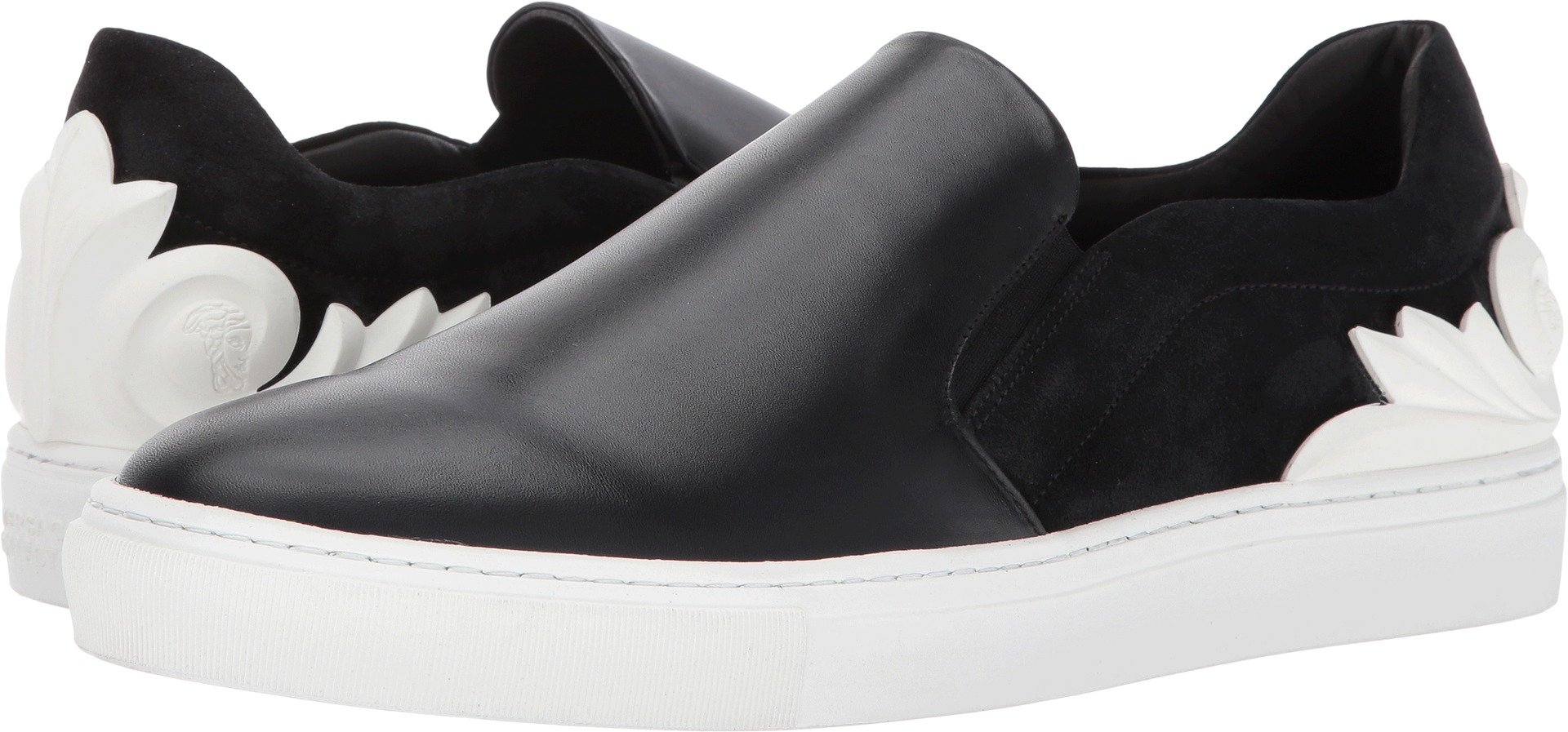 Versace Collection  Men's Baroque Detailed Slip-On Black Loafer by Versace