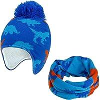 TAGVO 2 en 1 Niños Gorro y Bufanda, Invierno Sombrero Calentar Grueso Forro Polar Gorro de Punto Calentador de Cuello…