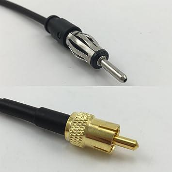 15 cm RG316 AM/FM macho a RCA macho Jumper Pigtail Cable RF Coaxial 50ohm