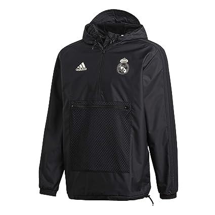 4283c150dd9e4 Amazon.com : adidas 2018-2019 Real Madrid SSP Wind Jacket (Black ...