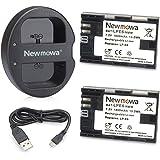Newmowa LP-E6 LP-E6N 互換バッテリー 2個 + 充電器 セットCanon EOS 5D Mark II EOS 5D Mark III EOS 5D Mark IV EOS 5DS EOS 5DS R EOS 6D EOS 7D EOS 7D Mark II EOS 60D, EOS 60Da EOS 70D EOS 80D