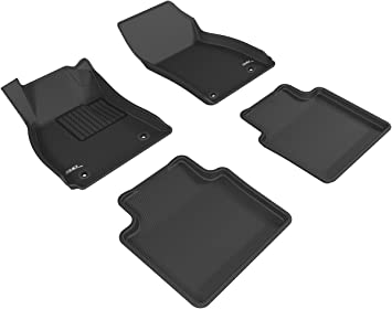 Tan 3D MAXpider Complete Set Custom Fit All-Weather Floor Mat for Select Buick LaCrosse Models Kagu Rubber