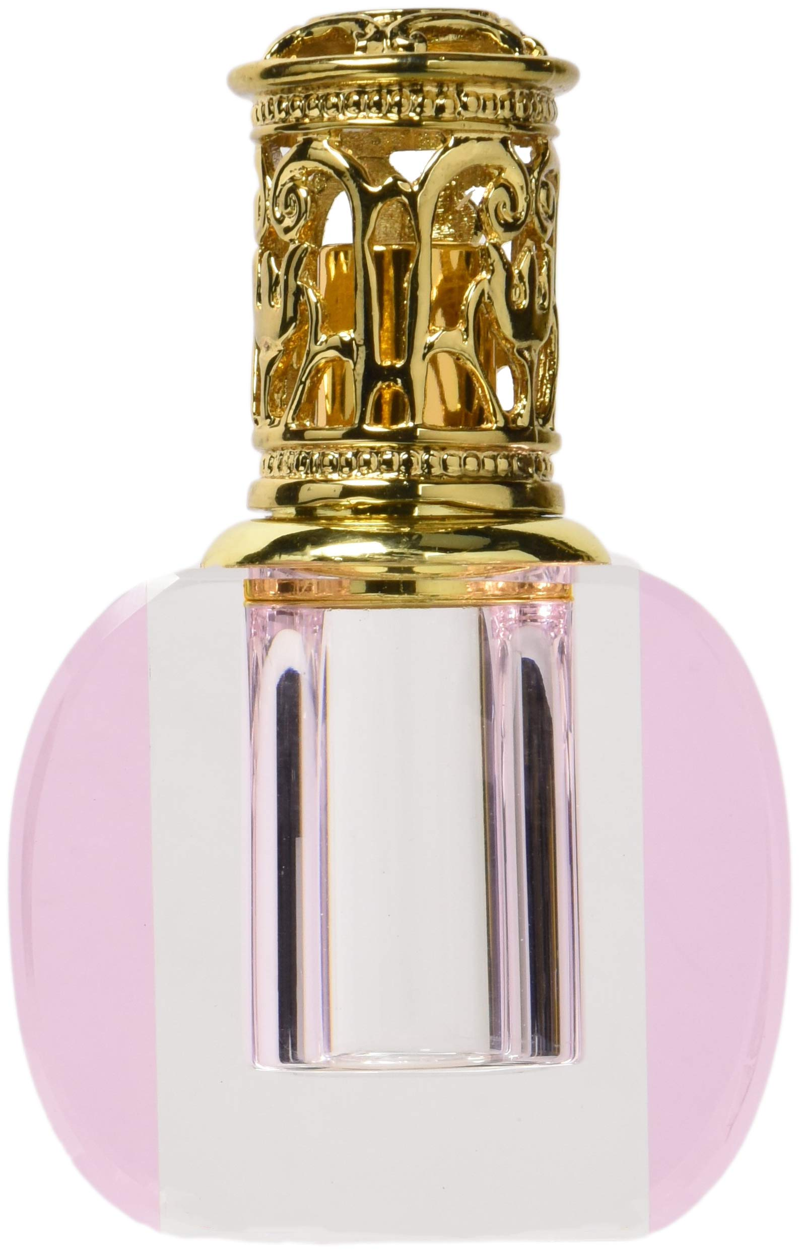 StealStreet CB-203A Pink Crystal Catalytic Fragrance Lamp with Gold Cap Aromatherapy Decor