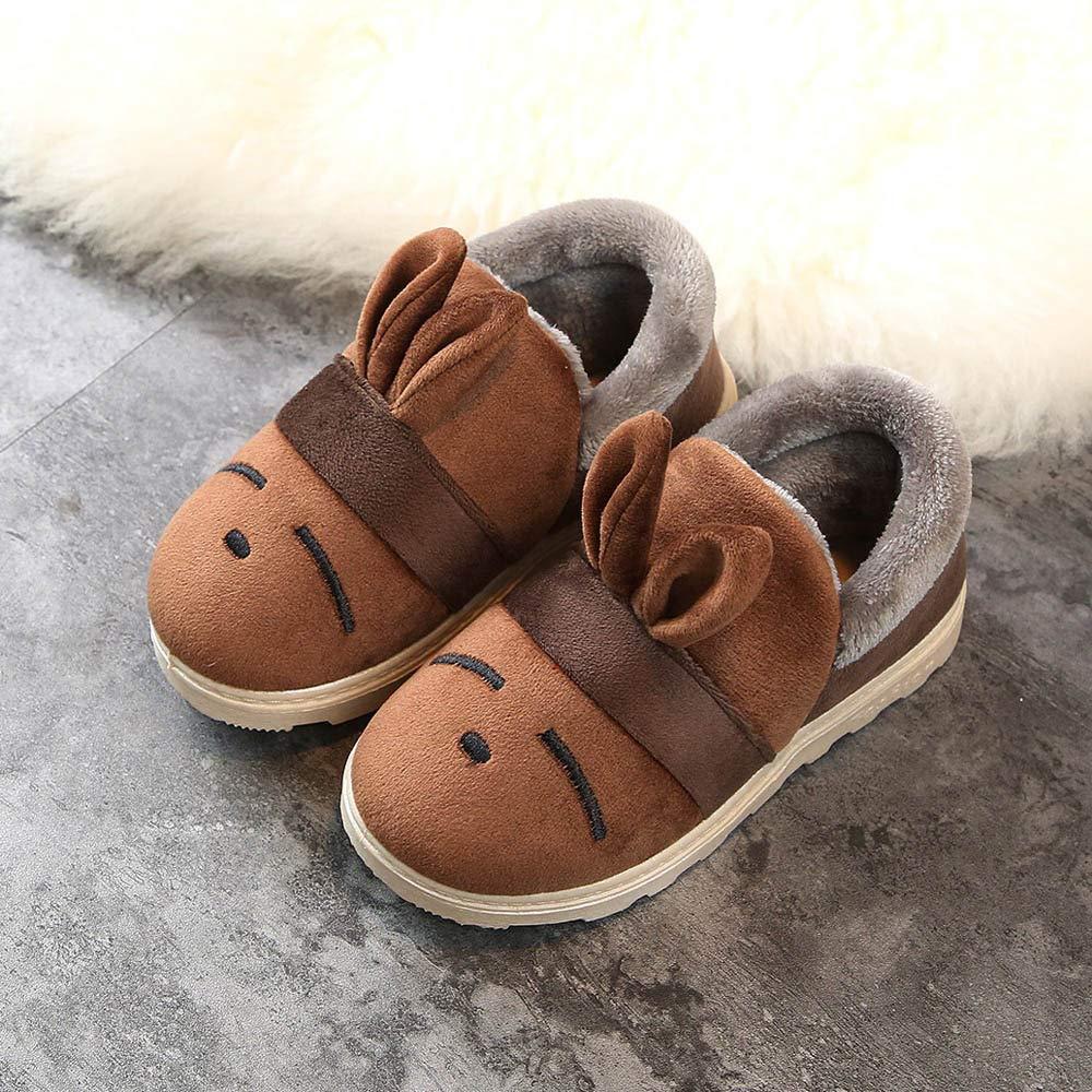 Kids Snow Boots Cartoon Rabbit Ears Plus Fluff Plus Cotton Thick Warm Snow Boots Cotton Shoes