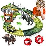 HOMOFY Slot Car Race Track Sets Dinosaur Toys Jurassic World for Children's Gift