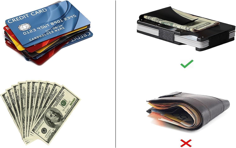 RFID Blocking Edc Front Pocket Wallet Steel Money Clip Men Business Credit Card Holder Minimalist Slim Aluminum Metal Wallet