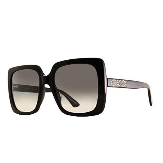 7758681fd1e Gucci GG0418S 001 Black GG0418S Square Sunglasses Lens Category 2 Size 54mm   Amazon.co.uk  Clothing