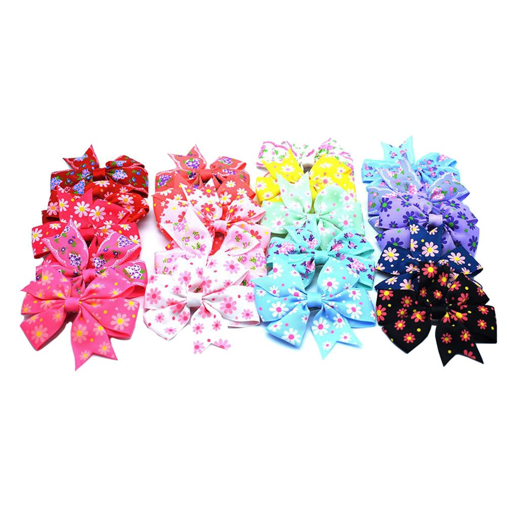 OKDEALS Baby Girls Hair Bows Clips 20 Pieces Ribbon Lined Alligator