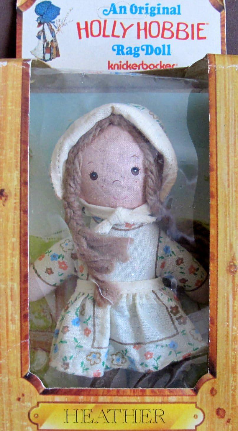 "9"" Length KNICKERBOCKER Vintage HOLLY HOBBIE /& HEATHER Cloth Rag Dolls LOT"