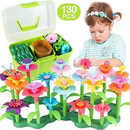 Creative Kids Children DIY Flower Floral Building Crafts Puzzle Educational Toys