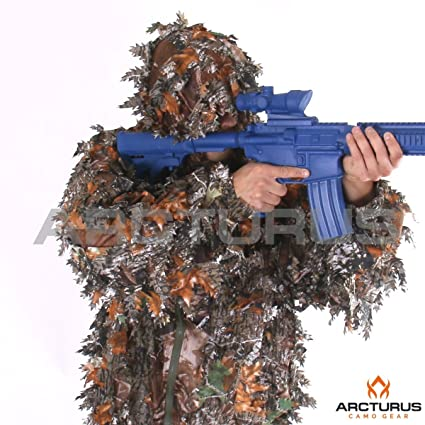 519d2103e87eb Arcturus 3D Leaf Ghillie Suit - Superior Full-Suit Lightweight Leafy  Camouflage for Hunting