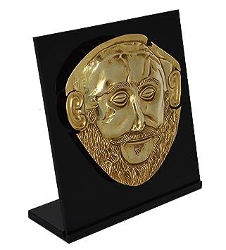 Estia Creations Máscara de Agamemnon chapada en oro, máscara de rey de micena: Amazon.es: Hogar