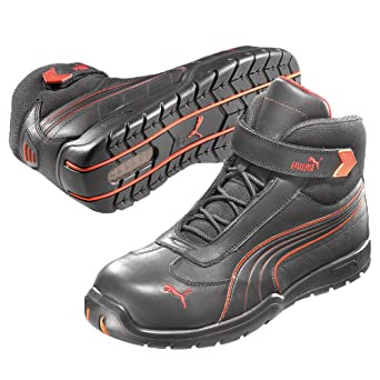 Puma S3 Daytona Mid 63.216.0 Zapatos de seguridad, botines altos, negro,