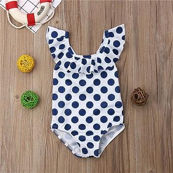 ZXCVBW Traje de baño para niños Bebé niña Traje de baño de ...