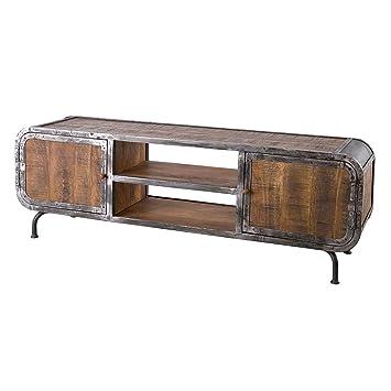 Möbel Ideal Lowboard Saigon Aus Mangoholz Und Metall Tv Board Im