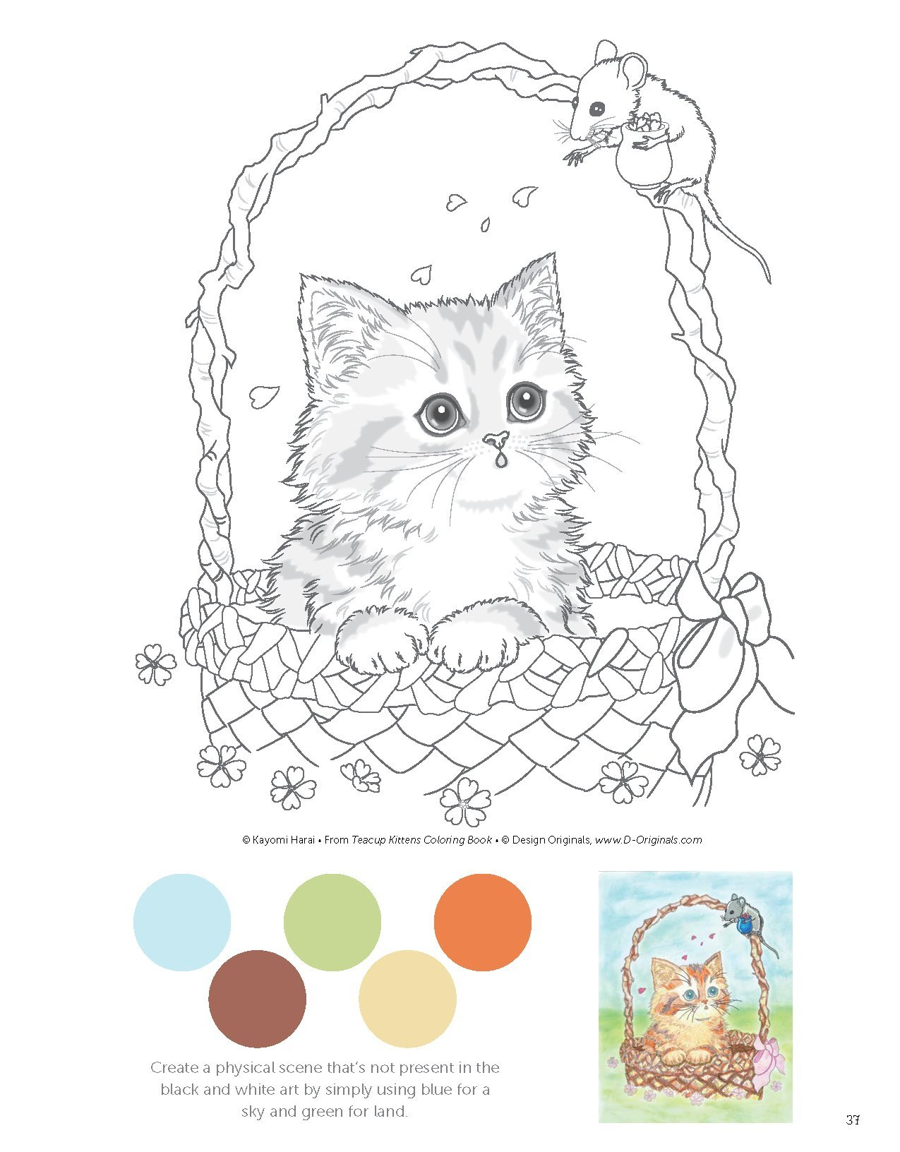 Teacup Kittens Coloring Book Colouring Books Amazoncouk Kayomi Harai 9781497202269