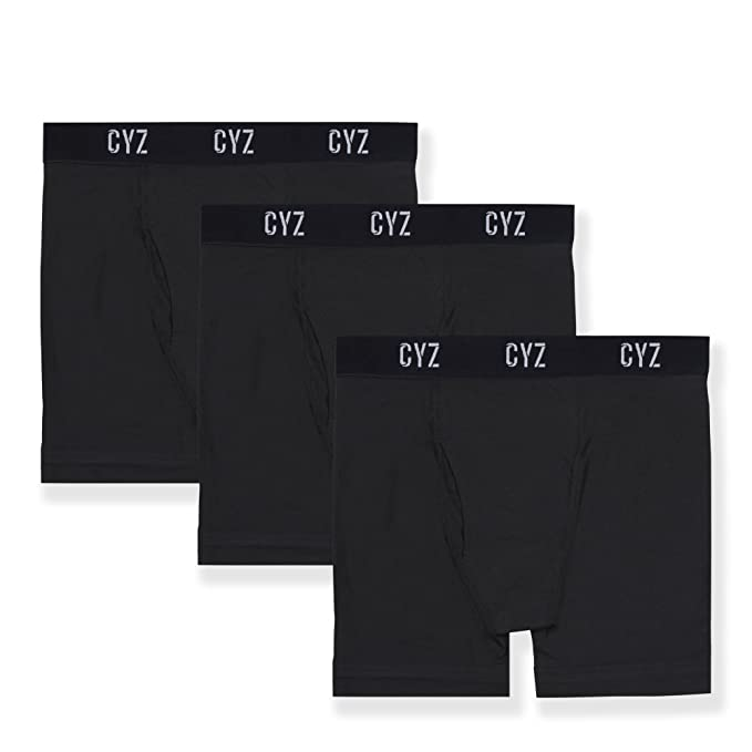 0d2b7ca27 CYZ Men s 3-PK Cotton Stretch Boxer Briefs for Men Pack of 3 at ...