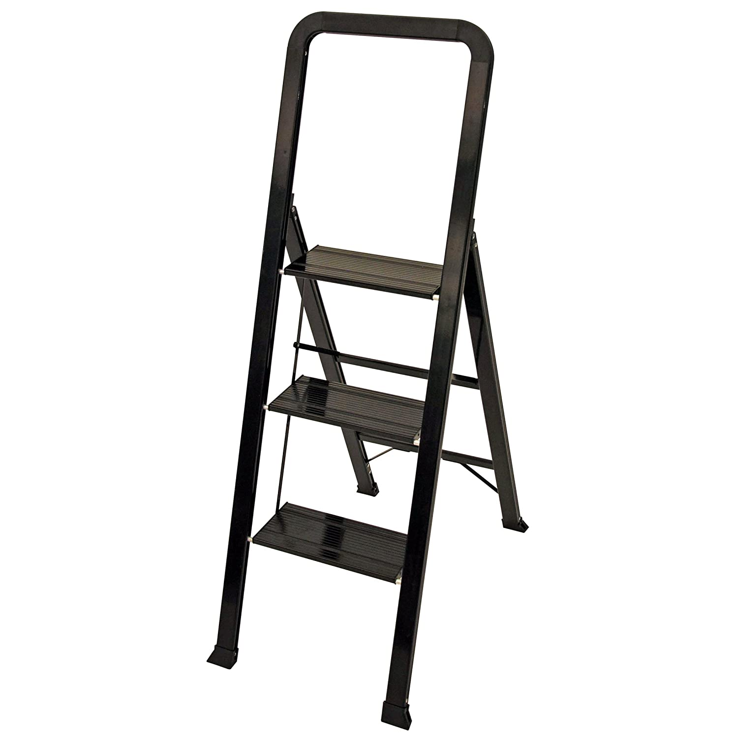 Ascent ADS3-001-BK 3 Designer Series Aluminum Step Stools 3, Black Ascent-Products