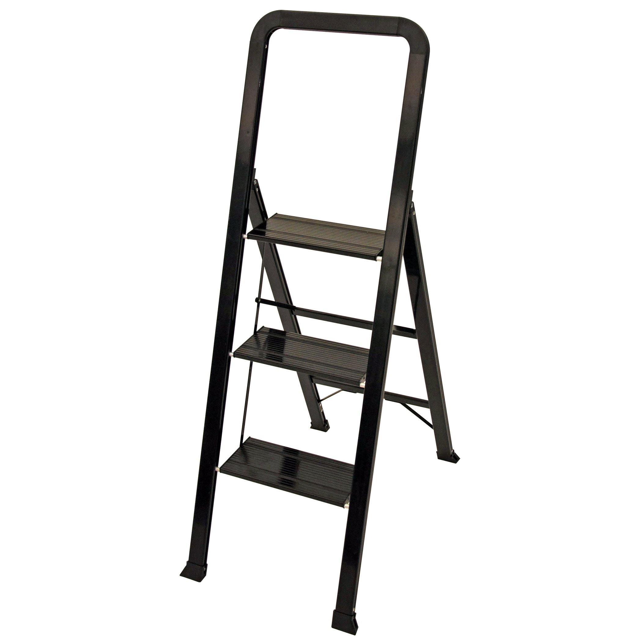 Ascent ADS3-001-BK Series Aluminum 3 Designer Step Stool, Black