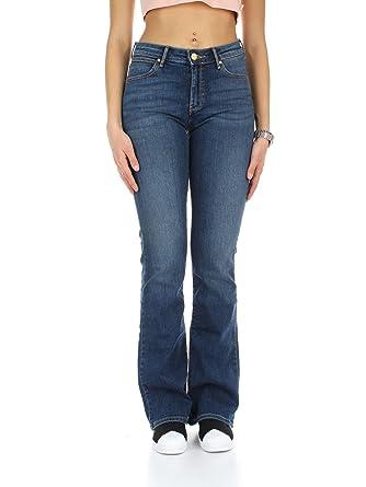 Wrangler Damen Jeanshose Bootcut Authentic Blue: