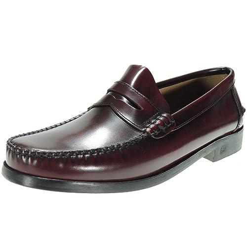 IBERICO 1003 Mocasín Castellano Piel Florentic y Piso Cuero para Hombre: Amazon.es: Zapatos y complementos