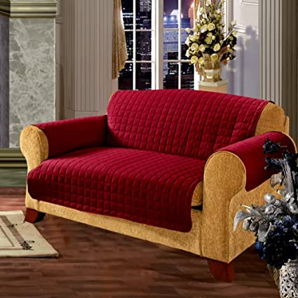 Amazon.com: Sleeper Sofa Slipcover 2 Cushion for Pets, Living Room ...