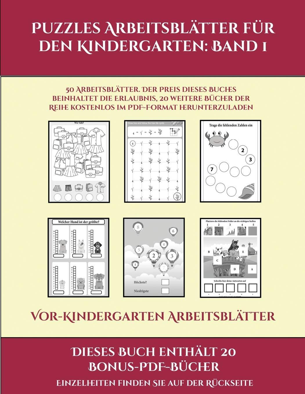 GER VOR KINDERGARTEN ARBEITSBL Vor Kindergarten Arbeitsblätter ...