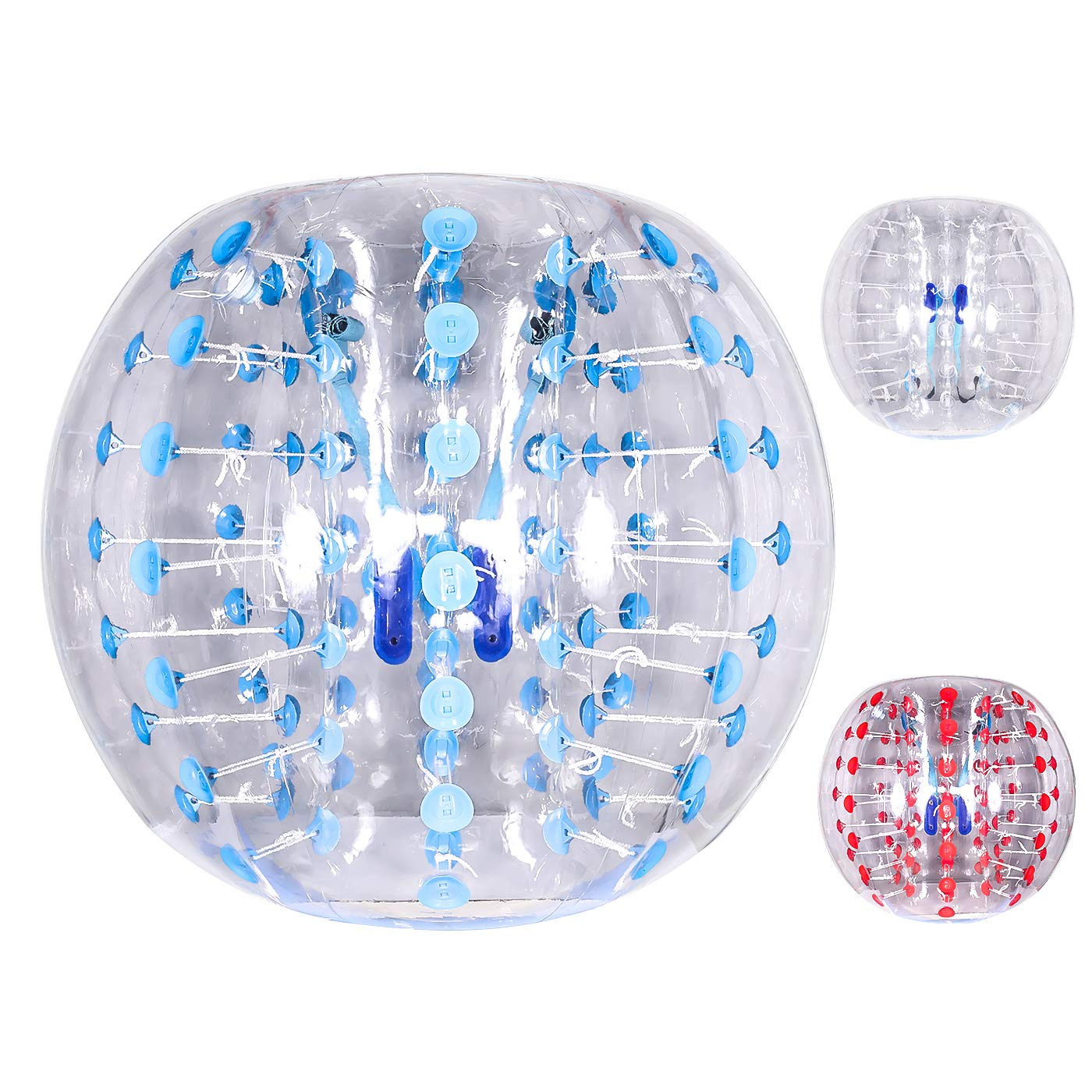 Ludosport Inflatable Bumper Ball 5 ft(1.5m) Dia Bubble Soccer, Inflatable Bumper Bubble Ball, Giant Human Hamster Knocker Ball Body Zorb for Adults &Teens (Blue)