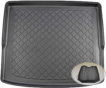 Zentimex Z3292495 Gummierte Kofferraumwanne Fahrzeugspezifisch Klett Organizer Laderaumwanne Kofferraummatte Auto