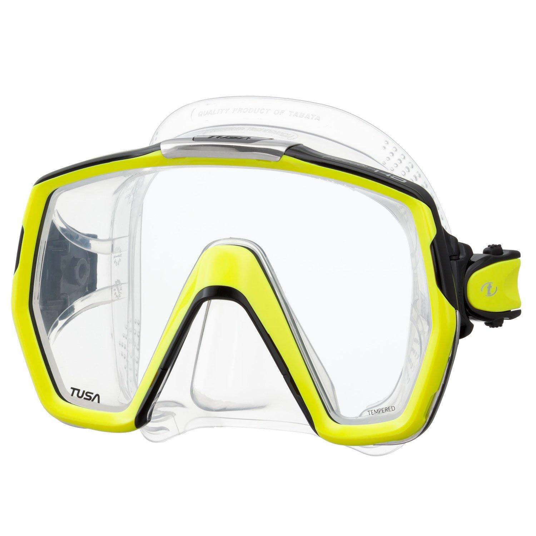 TUSA M-1001 Freedom HD Scuba Diving Mask, Flash Yellow