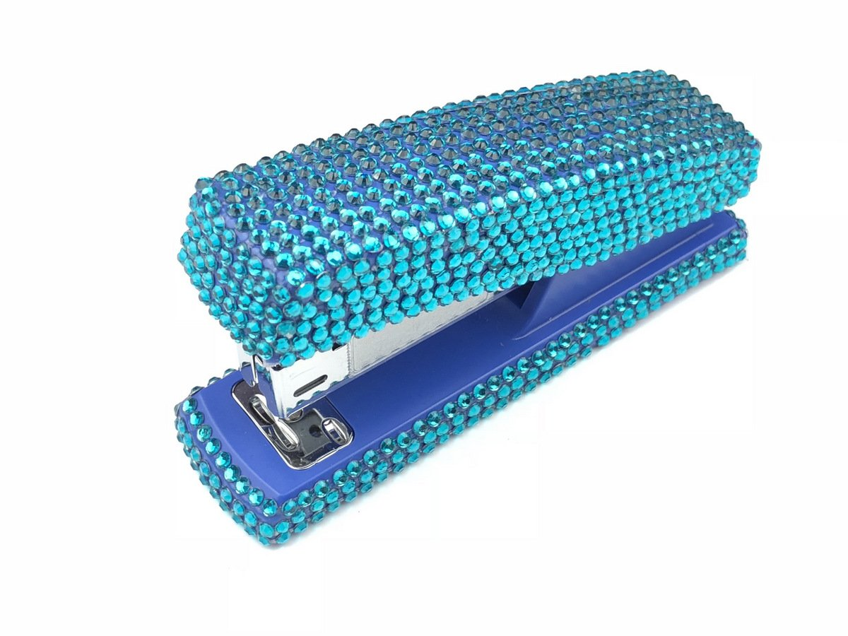blingustyle Sparkly Diamante Crystal Stapler for Office/Home Turquoise