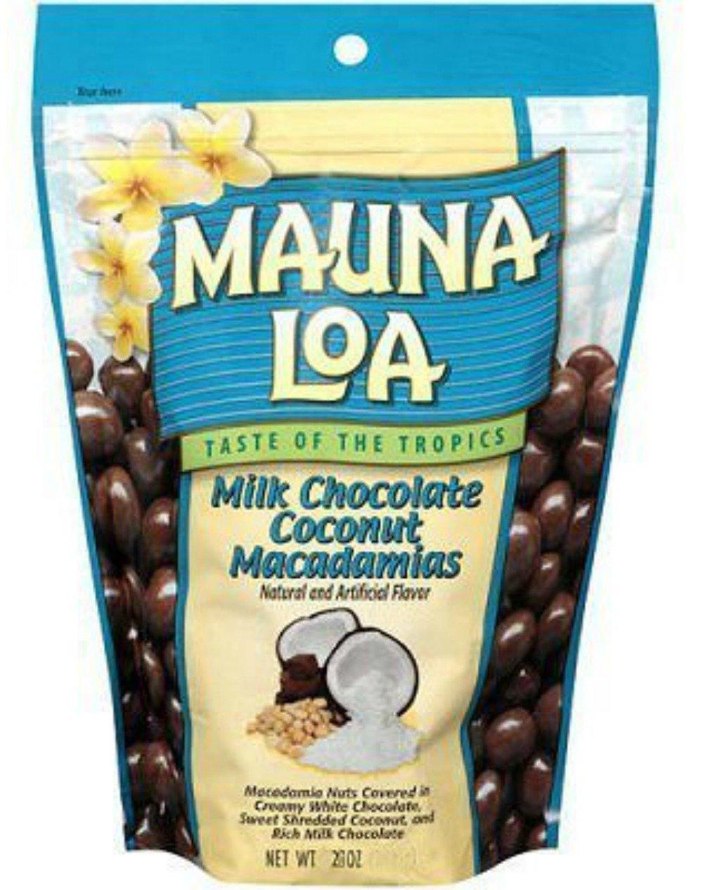 Mauna Loa Macadamias, Milk Chocolate Coconut, 28-Ounce Packages