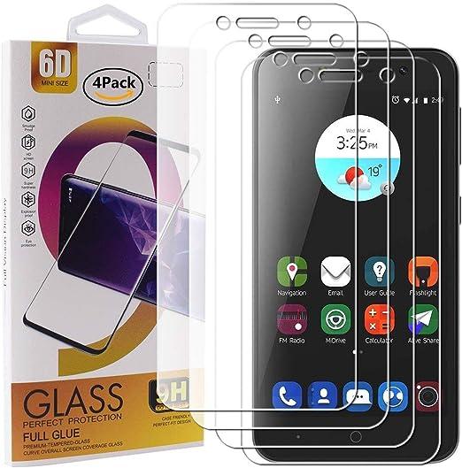 Guran 4 Paquete Cristal Templado Protector de Pantalla para ZTE Blade A520 Smartphone 9H Dureza Anti-Ara?azos Alta Definicion Transparente Película: Amazon.es: Electrónica