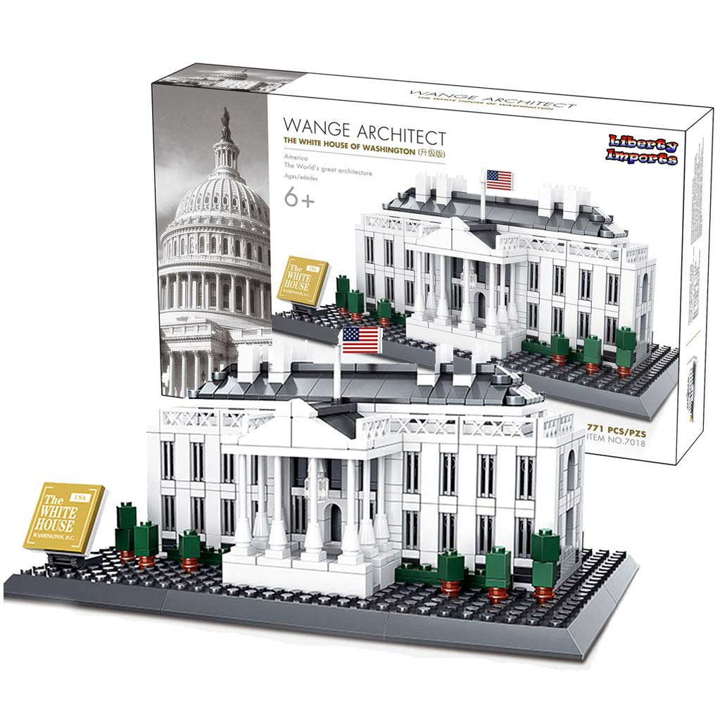 Liberty Imports 3D Puzzle Building Blocks The White House | World's Greatest Architecture